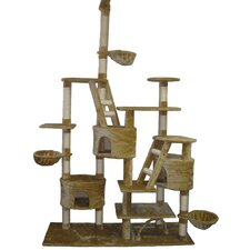"106"" Play Center Cat Tree in Beige"