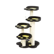 "36"" Paw Perch Cat Tree in Black"
