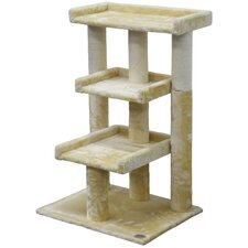 "<strong>Go Pet Club</strong> 35"" Cat Tree and Scratcher Post"