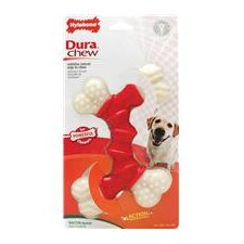 Durachew Double Bone Bacon Dog Toy