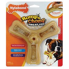 <strong>Nylabone</strong> Romp-N-Chomp Triple Treat Holder with Treats Dog Toy