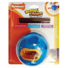 Romp-N-Chomp Rubber Ball with Treat Dog Toy