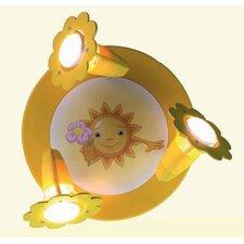 Wand-/ Deckenleuchte 3-flammig Sonne