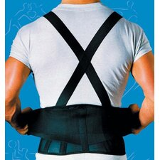 Back Belt with Suspenders in Black