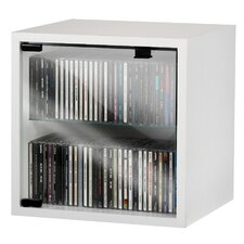 Quattro Wall Mounted CD / DVD Storage Box with Glass Door