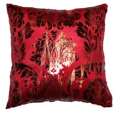 Velvet Damask Design Decorative Throw Pillow