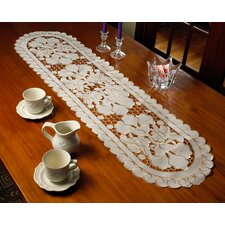 Sapphire Embroidered Cutwork Lace Design Table Runner