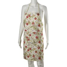 European Orchards Fruits Vintage Print Apron with Pocket