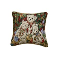Seasonal Bear Design Cushion Cover