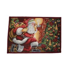 Seasonal Santa Claus Design Novelty Rug