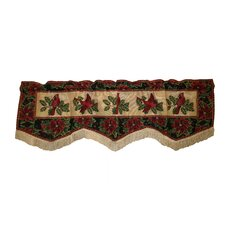 "Seasonal Cardinal Design 60"" Curtain Valance"