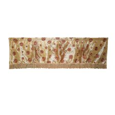 Silky Circle Design Curtain Valance