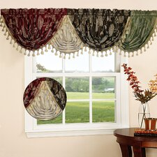 <strong>Violet Linen</strong> Legacy Damask Water Fall Curtain Valance