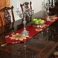 Chenille Floral Design Table Runner
