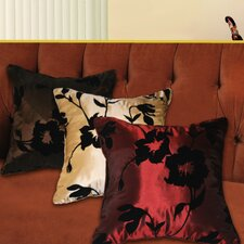 Silky Floral Design Throw Pillow