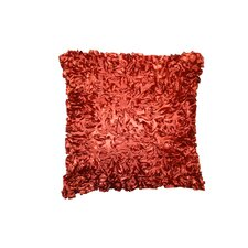 Silky Taffeta Abstract 3D Design Decorative Throw Pillow