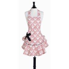 Pink Velvet Bows Bib Josephine Apron