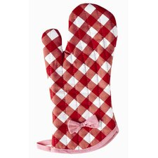 Giant Gingham Red Oven Mitt