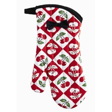 Diamond Cherries Oven Mitt