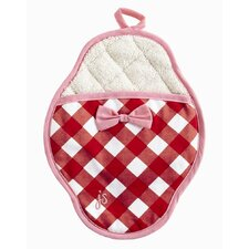 Giant Gingham Red Pot Mitt
