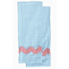 Yarn-Dye Blue and White Gingham Waffle Set