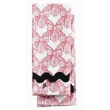 Pink Velvet Bows Waffle Towel Set