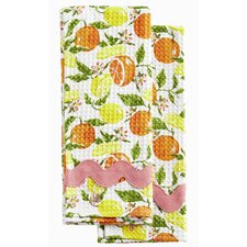 Citrus Blossom Waffle Towel Set