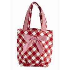 Giant Gingham Red Lunch Bag
