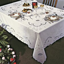 <strong>Violet Linen</strong> Sapphire Embroidered Design Tablecloth