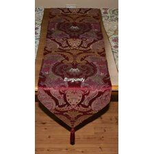 <strong>Violet Linen</strong> Chenille Swivel Design Table Runner