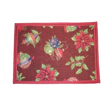 Seasonal Jingle Bells Red Design Area Rug