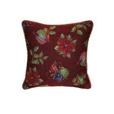 Seasonal Jingle Bells Cotton Cushion Cover