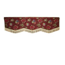 Seasonal Jingle Bells Cotton Blend Rod Pocket Scalloped Curtain Valance