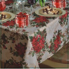 European Christmas PoinSettia Garden Design Tablecloth