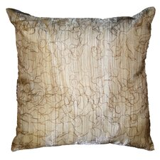 <strong>Violet Linen</strong> Eden Lace Tafetta Nittle Mesh Throw Pillow