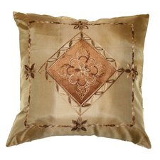 <strong>Violet Linen</strong> Silky Indiana Embroidered Velvet Diamond Decorative Cushion Cover