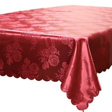 <strong>Violet Linen</strong> European Rose Design Tablecloth