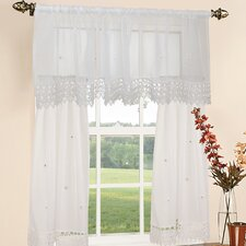 "Daisy Design 60"" Curtain Valance and Tier Set"