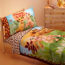 Lion King Jungle Beat 4 Piece Toddler Bedding Set