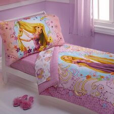 Tangled Rapunzel 4 Piece Toddler Bedding Set
