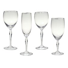Allegra Platinum White Wine Glass