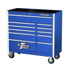"41"" 11 Drawer Professional Roller Cabinet in Blue"