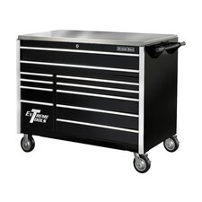 "<strong>Extreme Tools</strong> 55"" 11 Drawer Professional Roller Cabinet in Black"