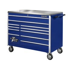 "55"" 11 Drawer Professional Roller Cabinet in Blue"