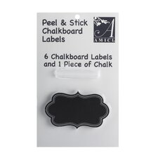 Cannes Chalk Board Label (Set of 6)