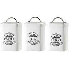 Vintage Home Metal Canister (Set of 3)