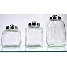 Square Glass Canister (Set of 3)