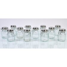 Hexagonal Spice jars (Set of 12)