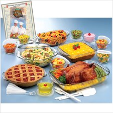 <strong>Anchor Hocking</strong> Expressions 25 Piece Deluxe Ovenware Set