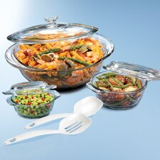 3-Piece Glass Round Casserole Set